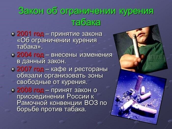 Закон об ограничении курения