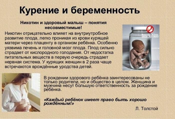 Воздействие курения на беременность