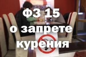 ФЗ 15 о запрете курения
