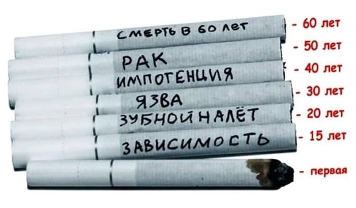 Сроки потребления никотина