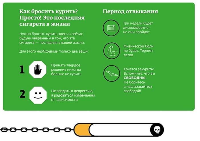 Отказ от курения папирос