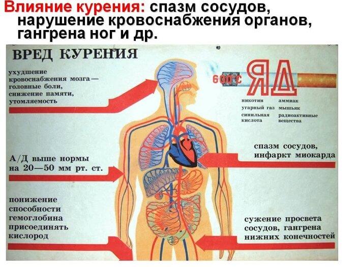 Воздействие на курильщика