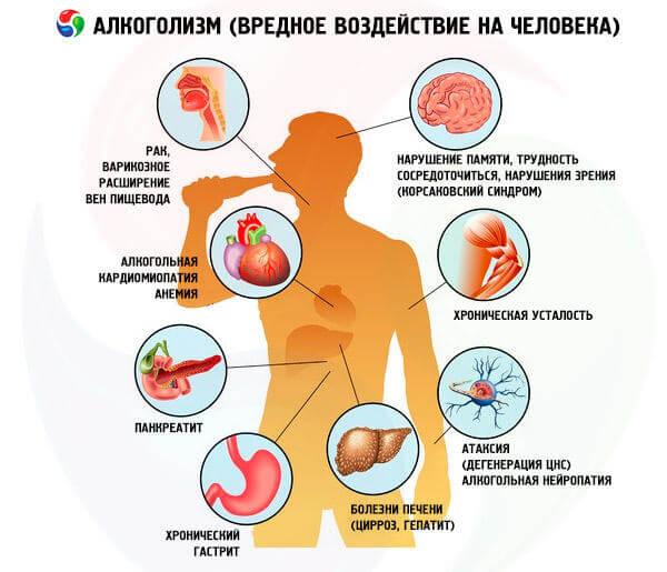 Воздействие алкоголя на организм мужчины